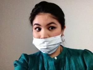 Me with my Walgreen's mask & Tarte eyeliner