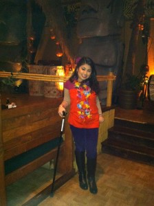At Tiki Terrace-After my Neuro Appt