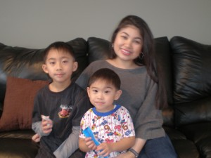 2010: With nephews, Mikko & Tyson