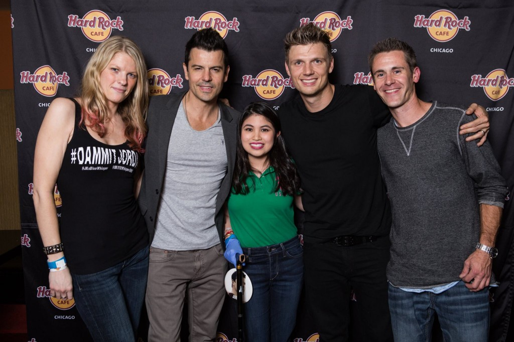 Barbi, Jordan Knight, me, Nick Carter, Jeff
