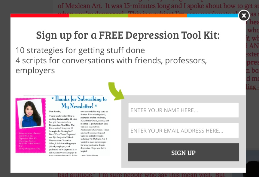 Subscribe to get your free Depression Tool Kit!
