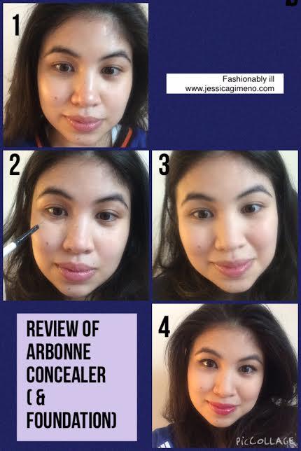 before and after Arbonne concealer