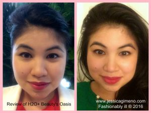 11 am / 7 pm using H2O+ Beauty's Oasis